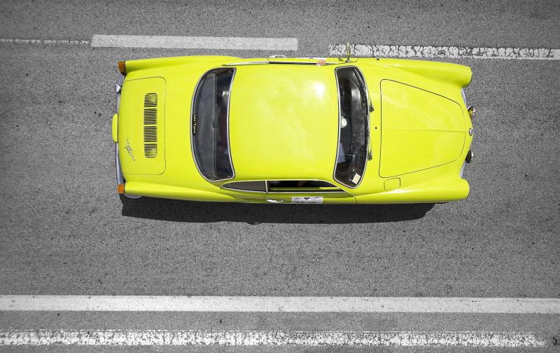 Raduno auto d'epoca – fotografata con drone