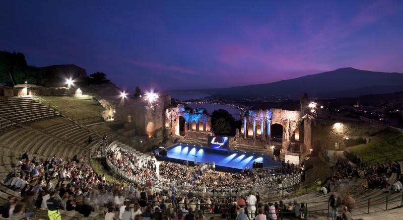 Teatro Greco – Taormina – Nastri d'argento – cliente Comune Taormina