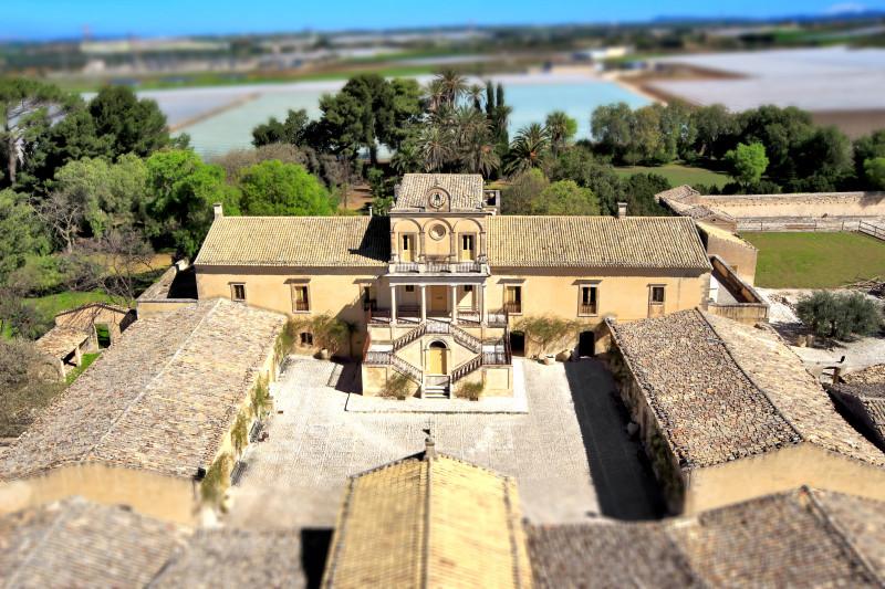 Villa Fegotto – veduta aerea – Chiaramonte Gulfi – fotografata con drone